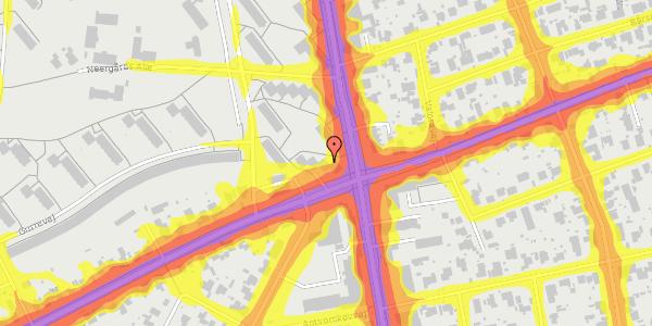 Trafikstøjkort på Hvidovrevej 336B, 1. tv, 2650 Hvidovre