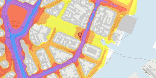 Trafikstøjkort på Nyhavn 22, 3. , 1051 København K