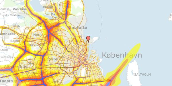 Trafikstøjkort på Sundkrogen 4, 4. , 2100 København Ø