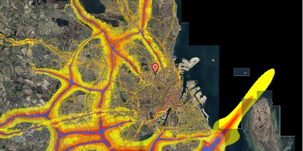 Trafikstøjkort på Bisiddervej 18, 1. tv, 2400 København NV