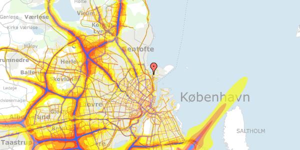 Trafikstøjkort på Strandvænget 57C, 1. , 2100 København Ø