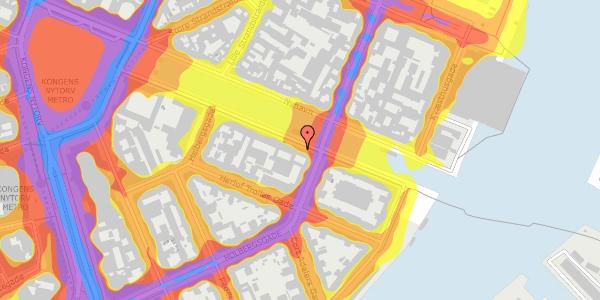 Trafikstøjkort på Nyhavn 22, 1051 København K