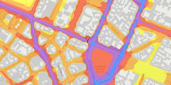 Trafikstøjkort på Gothersgade 5, 4. , 1123 København K