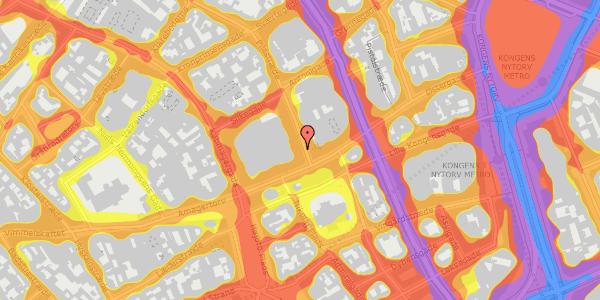 Trafikstøjkort på Pilestræde 1, 1112 København K