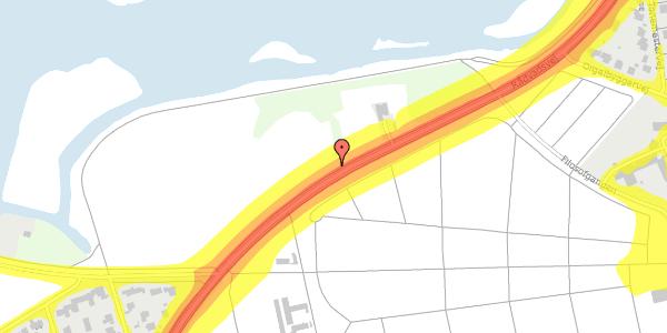 Trafikstøjkort på Rådvadsvej 67, 2400 København NV