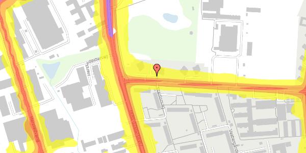 Trafikstøjkort på Stadionvej 90, 2600 Glostrup