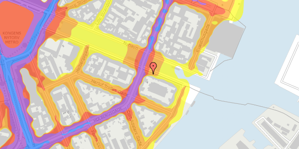 Trafikstøjkort på Nyhavn 38, 5. tv, 1051 København K