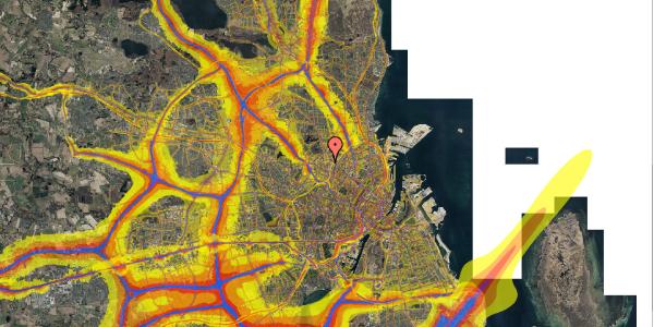 Trafikstøjkort på Bygmestervej 21A, 3. th, 2400 København NV