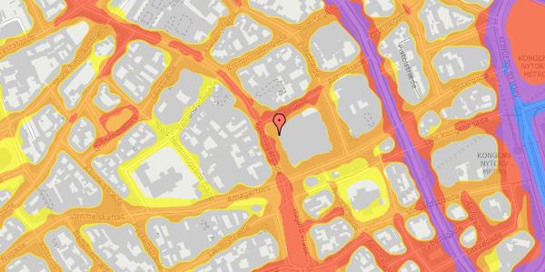 Trafikstøjkort på Købmagergade 12, 1150 København K