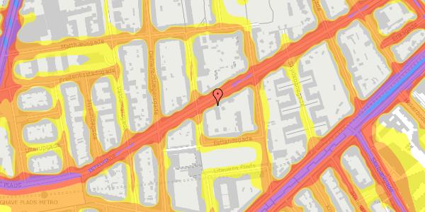 Trafikstøjkort på Istedgade 81, 1650 København V
