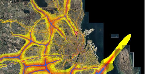 Trafikstøjkort på Vermundsgade 38E, 3. th, 2100 København Ø