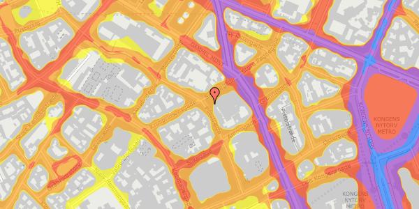 Trafikstøjkort på Pilestræde 34, 3. , 1112 København K