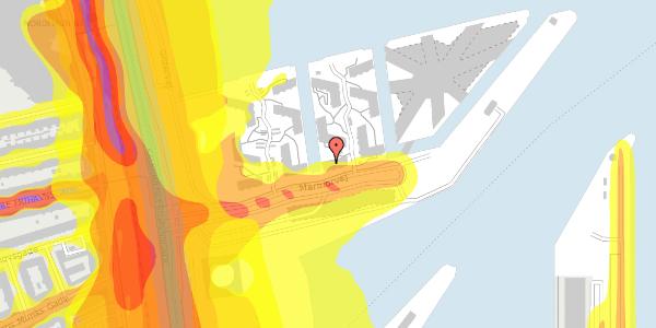 Trafikstøjkort på Marmorvej 19, 2100 København Ø