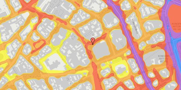 Trafikstøjkort på Silkegade 4, 1113 København K