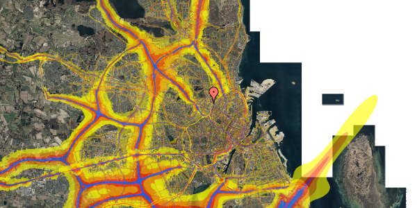 Trafikstøjkort på Bisiddervej 18, st. tv, 2400 København NV