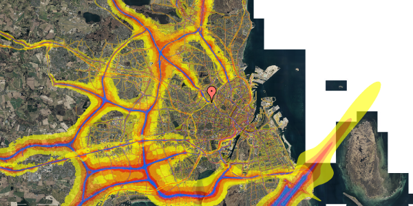 Trafikstøjkort på Rabarbervej 20, 1. 115, 2400 København NV