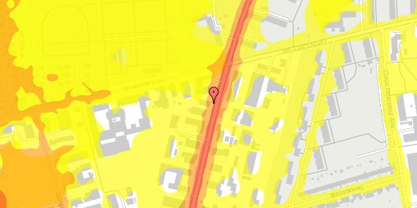 Trafikstøjkort på Arnold Nielsens Boulevard 62A, 1. , 2650 Hvidovre