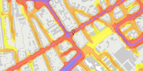 Trafikstøjkort på Istedgade 31, 1650 København V