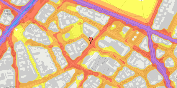 Trafikstøjkort på Suhmsgade 1, 1125 København K