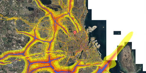 Trafikstøjkort på Tranevej 6B, 5. tv, 2400 København NV