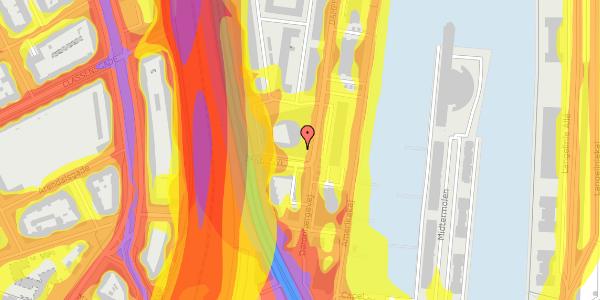 Trafikstøjkort på Amerika Plads 3D, 5. , 2100 København Ø