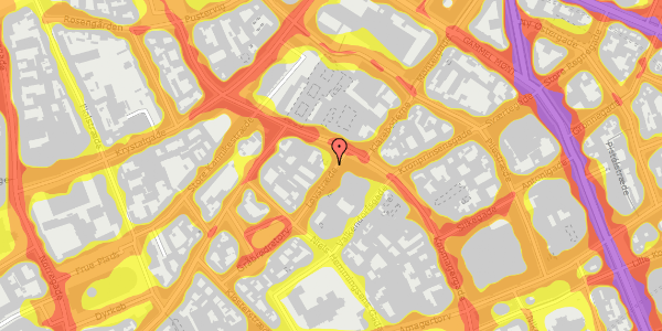 Trafikstøjkort på Løvstræde 2, 4. tv, 1152 København K