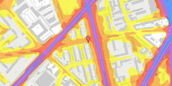 Trafikstøjkort på Aldersrogade 17, 2100 København Ø