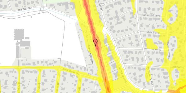 Trafikstøjkort på Rødhalsgangen 9, 2400 København NV