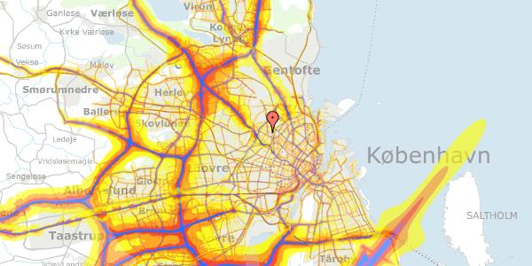 Trafikstøjkort på Theklavej 10, 2400 København NV