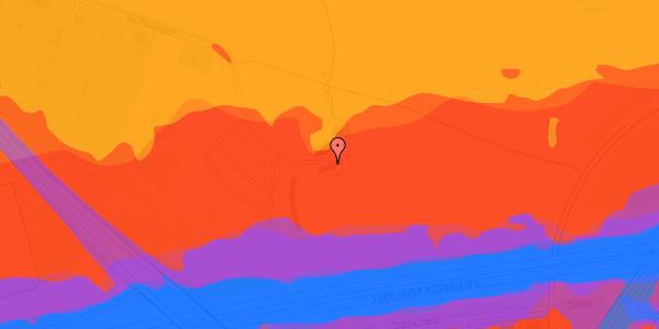 Trafikstøjkort på Golfsvinget 6, 2625 Vallensbæk