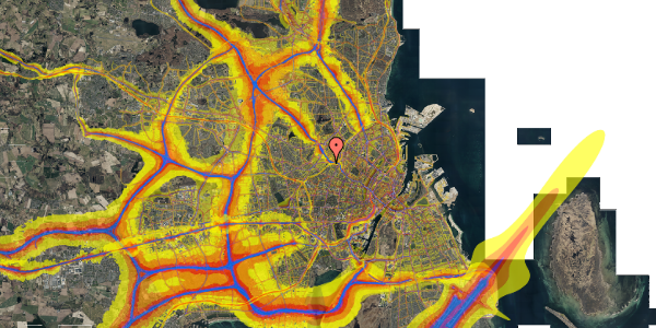 Trafikstøjkort på Rabarbervej 20, 1. 102, 2400 København NV