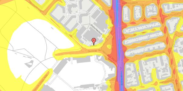 Trafikstøjkort på Østerfælled Torv 7, 2100 København Ø