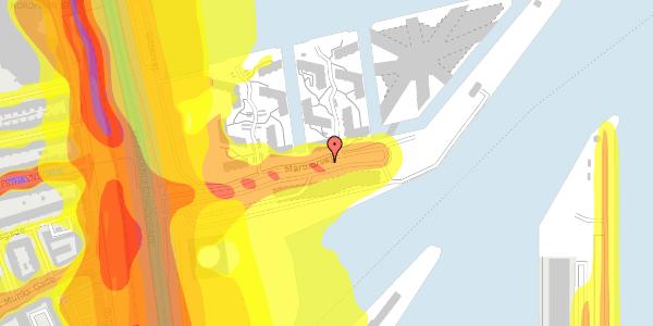 Trafikstøjkort på Marmorvej 21A, 2100 København Ø