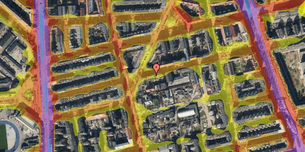 Trafikstøjkort på Viborggade 42, 1. , 2100 København Ø