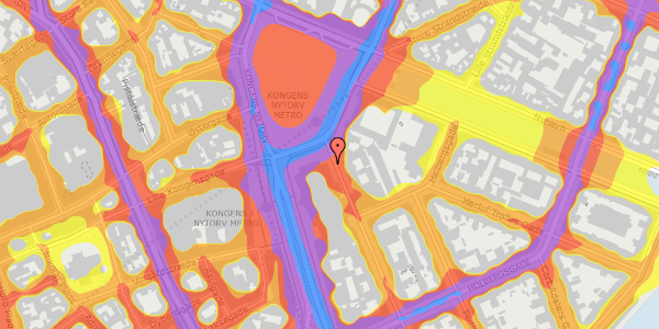 Trafikstøjkort på August Bournonvilles Passage 2, 1055 København K