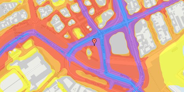 Trafikstøjkort på Holmens Kanal 21, 1060 København K