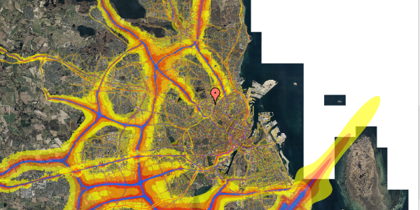 Trafikstøjkort på Bygmestervej 21B, 2. th, 2400 København NV