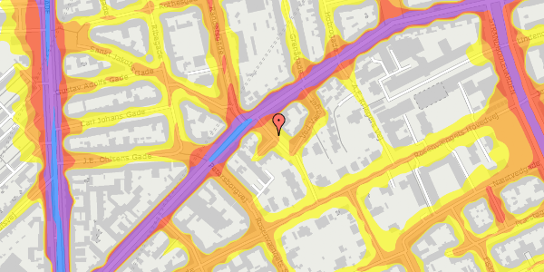 Trafikstøjkort på A.L. Drewsens Vej 15, 2100 København Ø