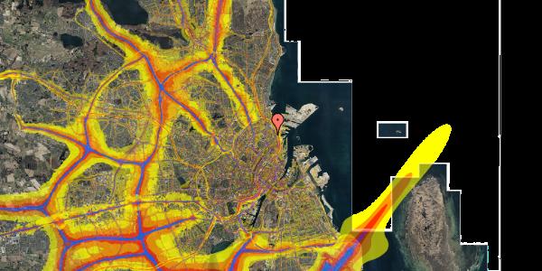Trafikstøjkort på Viborggade 44, 3. tv, 2100 København Ø