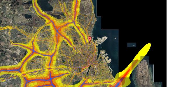 Trafikstøjkort på Venøgade 24, 4. th, 2100 København Ø