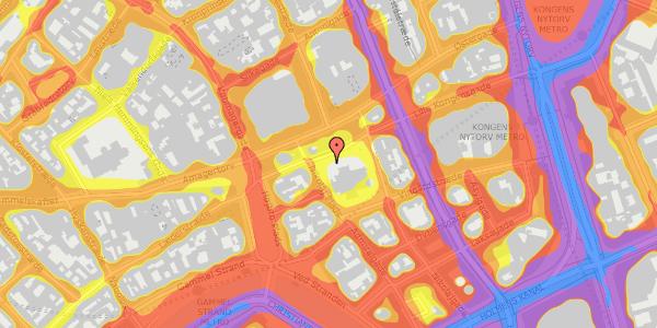 Trafikstøjkort på Nikolaj Plads 10C, 1067 København K