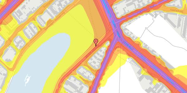 Trafikstøjkort på Øster Søgade 107, 2100 København Ø