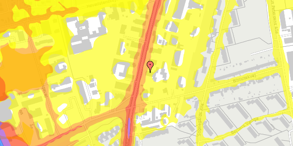 Trafikstøjkort på Arnold Nielsens Boulevard 77, st. , 2650 Hvidovre