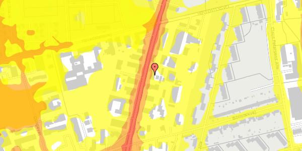 Trafikstøjkort på Arnold Nielsens Boulevard 69, 2650 Hvidovre