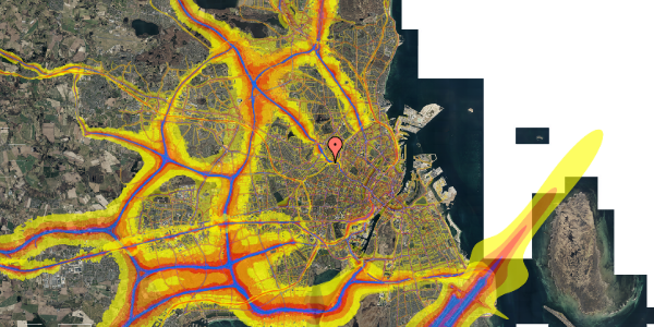 Trafikstøjkort på Rabarbervej 20, 3. 304, 2400 København NV