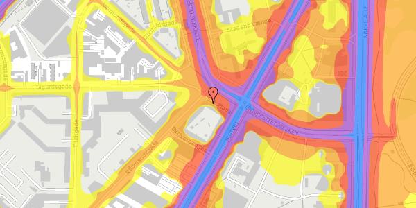 Trafikstøjkort på Sifs Plads 13, 2100 København Ø