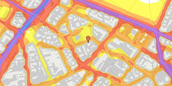 Trafikstøjkort på Hauser Plads 10, 1127 København K