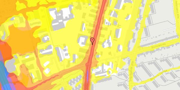 Trafikstøjkort på Arnold Nielsens Boulevard 70, 1. , 2650 Hvidovre