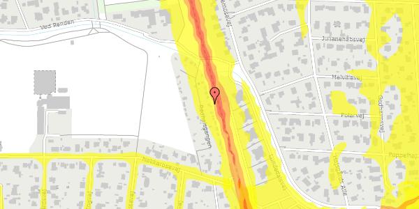 Trafikstøjkort på Rødhalsgangen 10, 2400 København NV