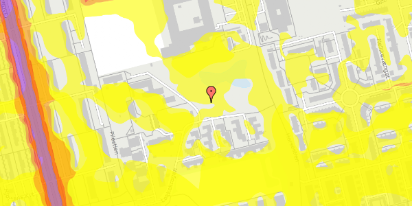 Trafikstøjkort på Løkkekrogen 45, 2625 Vallensbæk